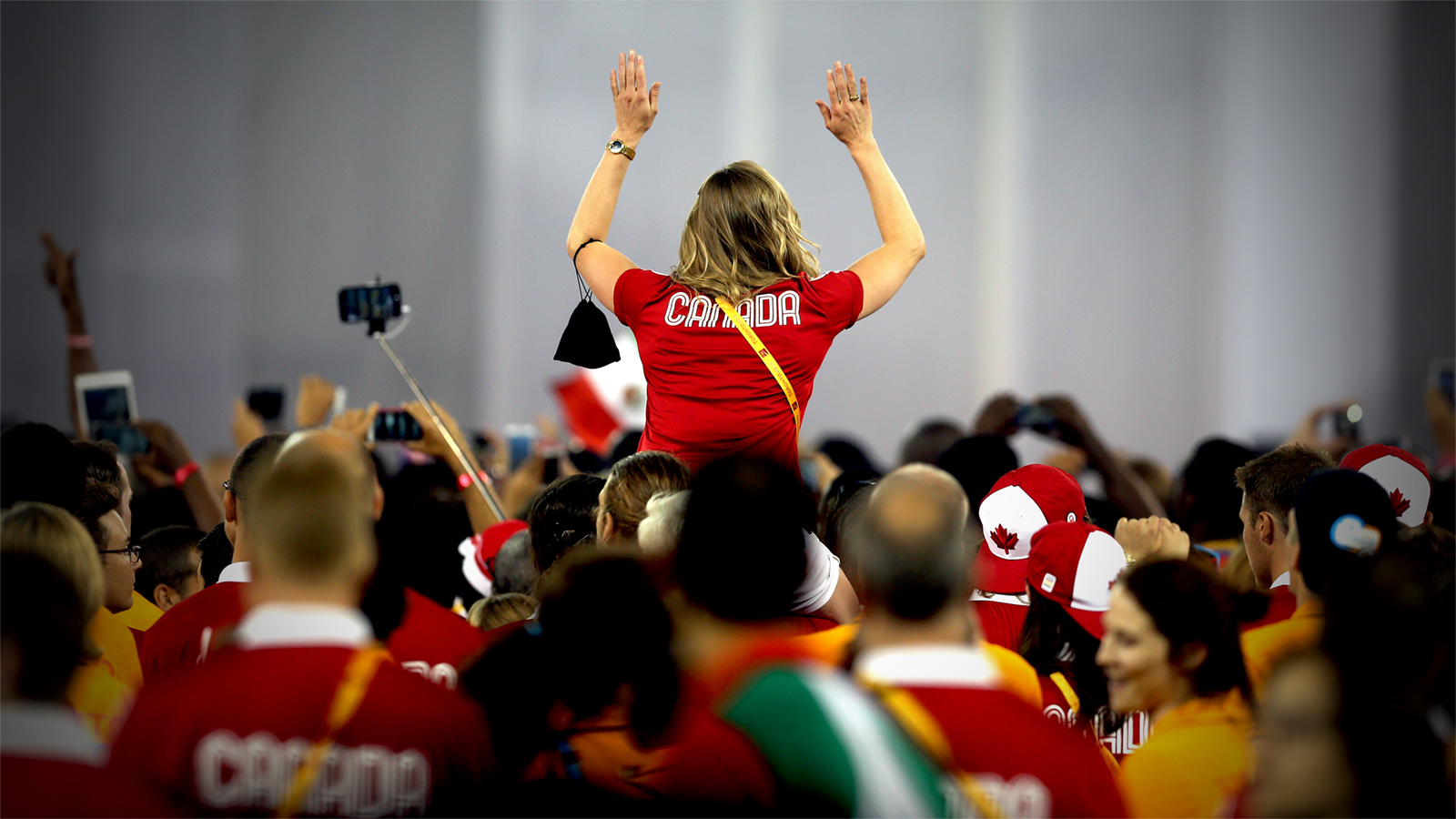 Canadian supporter cheering
